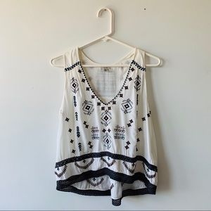 Ecote Embroidered Boho Swing Festival Tank Top Sm
